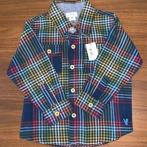 Blue Rooster Flannel, Size 3T